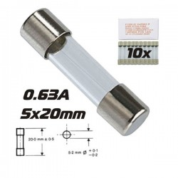 Fusível 5X20 Fusão Lenta 0.63A (10X)