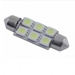 Lâmpada LED 12V c/ 6 Leds 50X50 p/ Automóvel