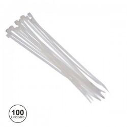Abraçadeira Plástica 365X7.8mm Branca 100X