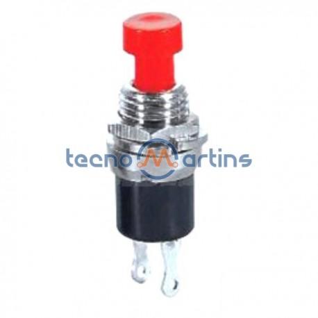 Interruptor Pressão Mini Redondo OFF-(ON) Norm Aberto Vermelho