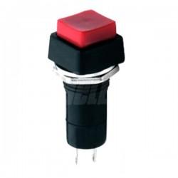 Interruptor Pressão Quadrado On-Off Vermelho