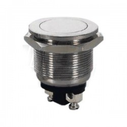 Interruptor Redondo em Aço Inoxidável Inviolável SPST Norm Aberto