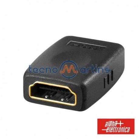 Ficha adaptadora HDMI Fêmea / HDMI Fêmea Dourada