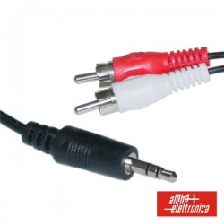 Cabo Jack 3.5mm Macho St / 2-Rca Macho 5M
