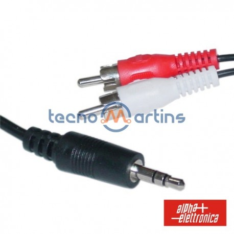 Cabo Jack 3.5mm Macho St / 2-Rca Macho 2.5M