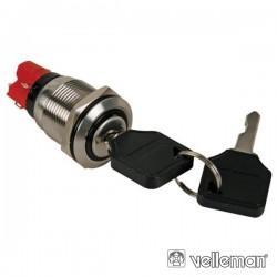 Interruptor c/ Chave 2 Posições - Aço Inoxidável - 19mm