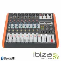 Mesa de Mistura 8 Canais 6 Entradas Usb/Bt/Gravação - Ibiza