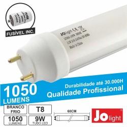 Lâmpada Tubular 9W 60cm Leds T8 Branco Frio 1050Lm Jolight