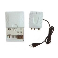 Kit Amplificador de Mastro 2x UHF 33DB + Alimentador 24V - SHOP+