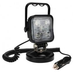 Projector LED com Base Magnética de 11-30Vdc, 15W 7500K 800Lm