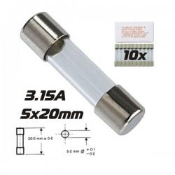 Fusível 5X20 Fusão Lenta 3.15A (10X)