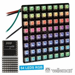 Kit 64 Leds Rgb Matrix Velleman