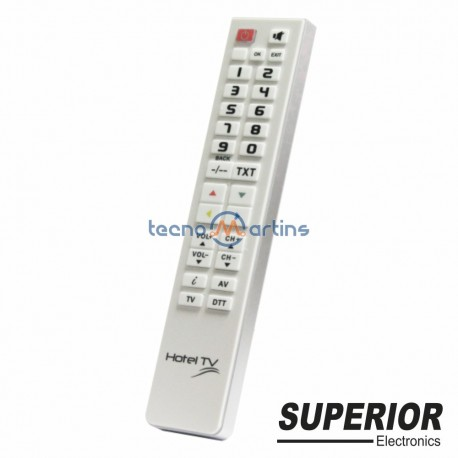 Telecomando Universal Programável Hotel TV Branco
