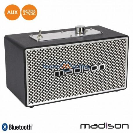 Coluna Bluetooth Vintage 15W Preto - MADISON