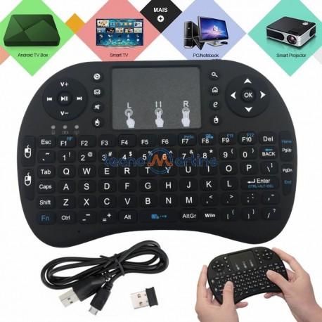 Teclado e Rato Touchpad Sem Fios USB 2.4GHZ