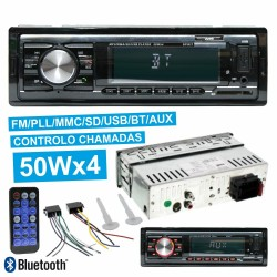 Auto-Rádio MP3 WMA 4x50W C/ FM/PLL/MMC/SD/USB BLUETOOTH