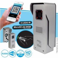 Vídeo Porteiro WI-FI e RJ45 C/ Alarme para Smartphone