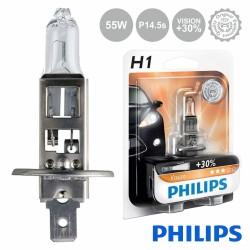Lâmpada para Automóvel 12V H1 P14.5S 55W VISION+30 PHILIPS