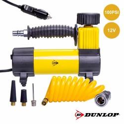 Compressor De Ar com Acessórios 100PSI 12V - DUNLOP