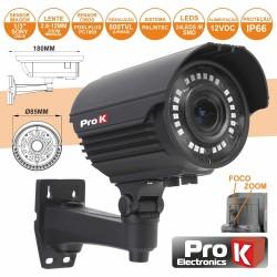 "Câmara de Vigilância CCD CORES 800L 1/3"" SONY IP66 PROK"