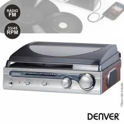 Gira-Discos 33/45RPM FM Vintage - DENVER
