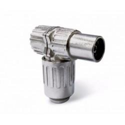 Ficha Coaxial Fémea 90º 9.5mm