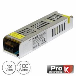 Fonte de Alimentação Industrial Slim 12V 100W 8.5A Prok