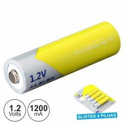 Bateria Ni-Mh AAA 1.2V 1200Ma 4X Blister