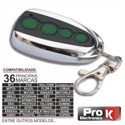 Telecomando Garagem Universal 4 Canais Rolling Code - PROK
