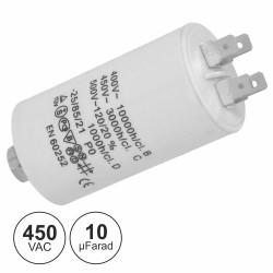 Condensador de Arranque 10uF 450V + Terra