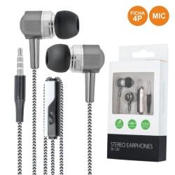 Auscultadores Stereo C/ Fios C/ Micro Preto