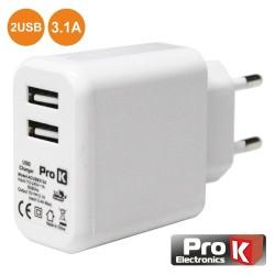 Alimentador Compacto Comutado 2 USB 5V 3.1A 15W