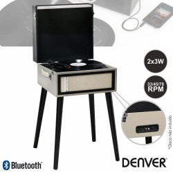 Gira-Discos Bluetooth USB/MP3 Vintage 2X3W - DENVER