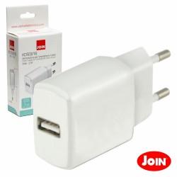 Alimentador Compacto Comutado 1 USB 5V 2.1A Branco - JOIN