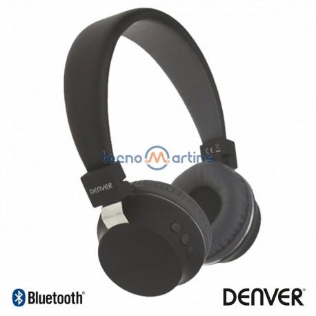 Auscultadores Bluetooth S/ Fios AUX Preto MIC - DENVER