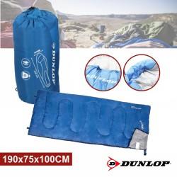 Saco Cama Campismo 190x75x100cm Azul - DUNLOP