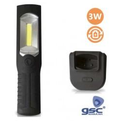 Lanterna LED 3W Recarregavel com Base - GSC