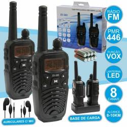 Intercomunicadores s/ Fios 8-10KM 8 Canais Lanterna LED
