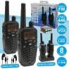 Intercomunicadores S/ Fios 8-10KM 8 Canais c/ Lanterna LED