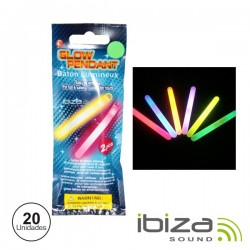 Conjunto 20 Barras Luminescentes Multicolor 100mm - IBIZA