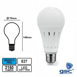 Lampada Led E27 22w A70 6000k 2150lm BF - GSC
