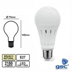 Lâmpada LED E27 A70 220V 22W 4200k 2150lm BN - GSC