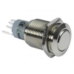 Interruptor Redondo de Metal Spdt 1Na 1Nc