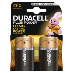 Pilha Alcalina D Lr20 Duracell - Plus Power