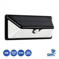 Armadura LED c/ 5w 6000K 500lm C/ Painel Solar Sensor Pres