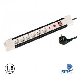 Extensão 1.5mt C/ 6 Tomadas C/ Proteção + Interruptor - GSC