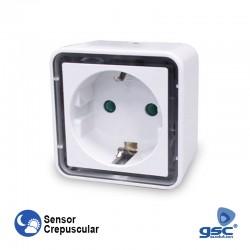 Tomada AC Crepuscular C/ LED 0.8w - GSC