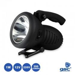 Lanterna LED 1W 350lm Recarregável 220v/12v - GSC