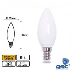 Lâmpada LED E14 4w Chama 3000k 320lm 360º - GSC