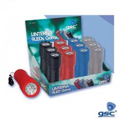 Lanterna 9 LEDs Mini em Borracha - GSC